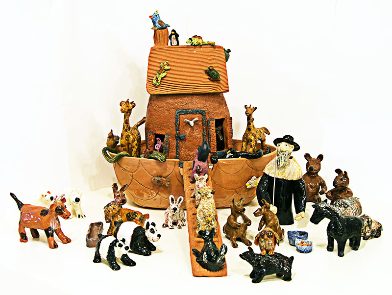 "LYNN LAVIN, ""Noah's Ark"" Sculpture"