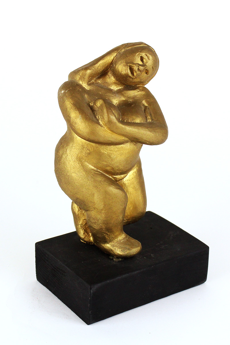 Sinclair Hamilton, Earth, Gold Nude Sculpture