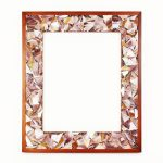 Marla Carr, Large Taupe Stained Glass Frame