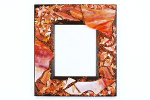 Marla Carr, Large Coral Stained Glass Frame