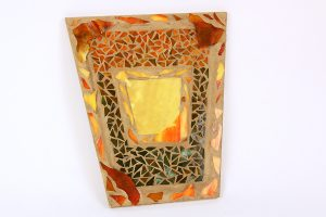 Marla Carr, Asymmetrical Mosaic Frame with mirror