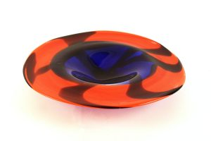 Anonymous, Red & Blue Glass Bowl