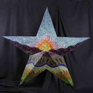 Karen King, Giant Painted Metal Star