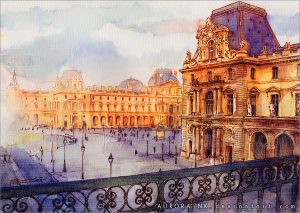 The Louvre by Auroraink