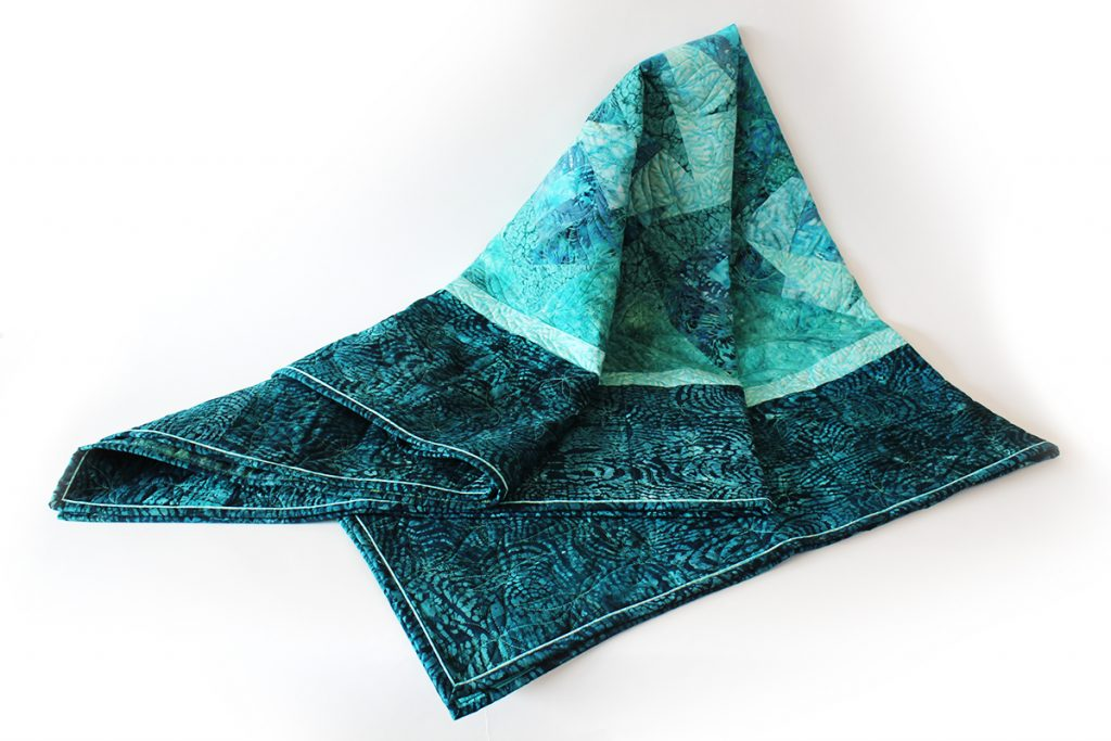 Hand-dyed quilt by Jane Frenke